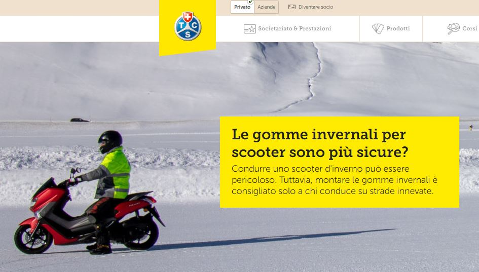 Test TCS sulle gomme invernali per scooter