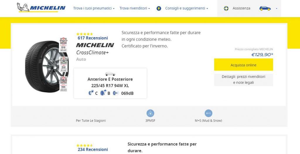 Michelin accompagna il cliente dal gommista con un clic: nasce Buy Now Button