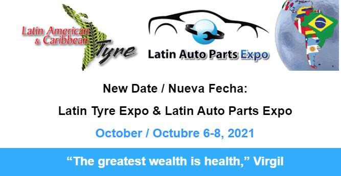 Latin American expo & Caribbean Tyre Expo - Panama 6-8 ottobre 2021 nuove date ottobre statistiche when new show fiera pneumatici