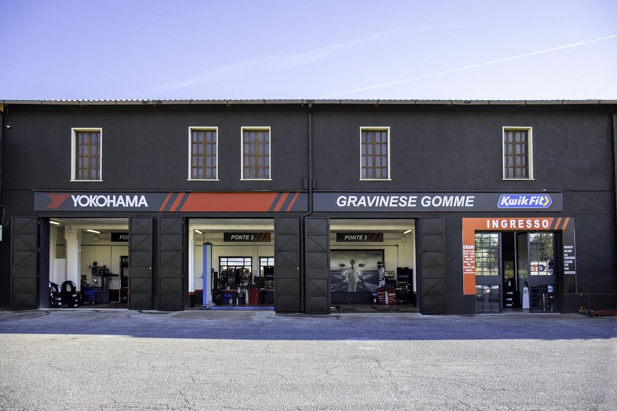 Il primo centro Kwikfit con nuovo look Yokohama è a Roma