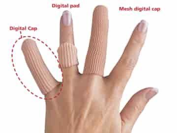 Silipad Digital Finger topp S / M, 19 mm Ø, Längd 6,4 cm - 6 st. i ett paket.