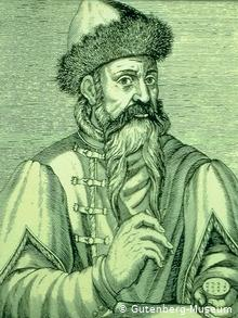 Retrato de Gutenberg.
