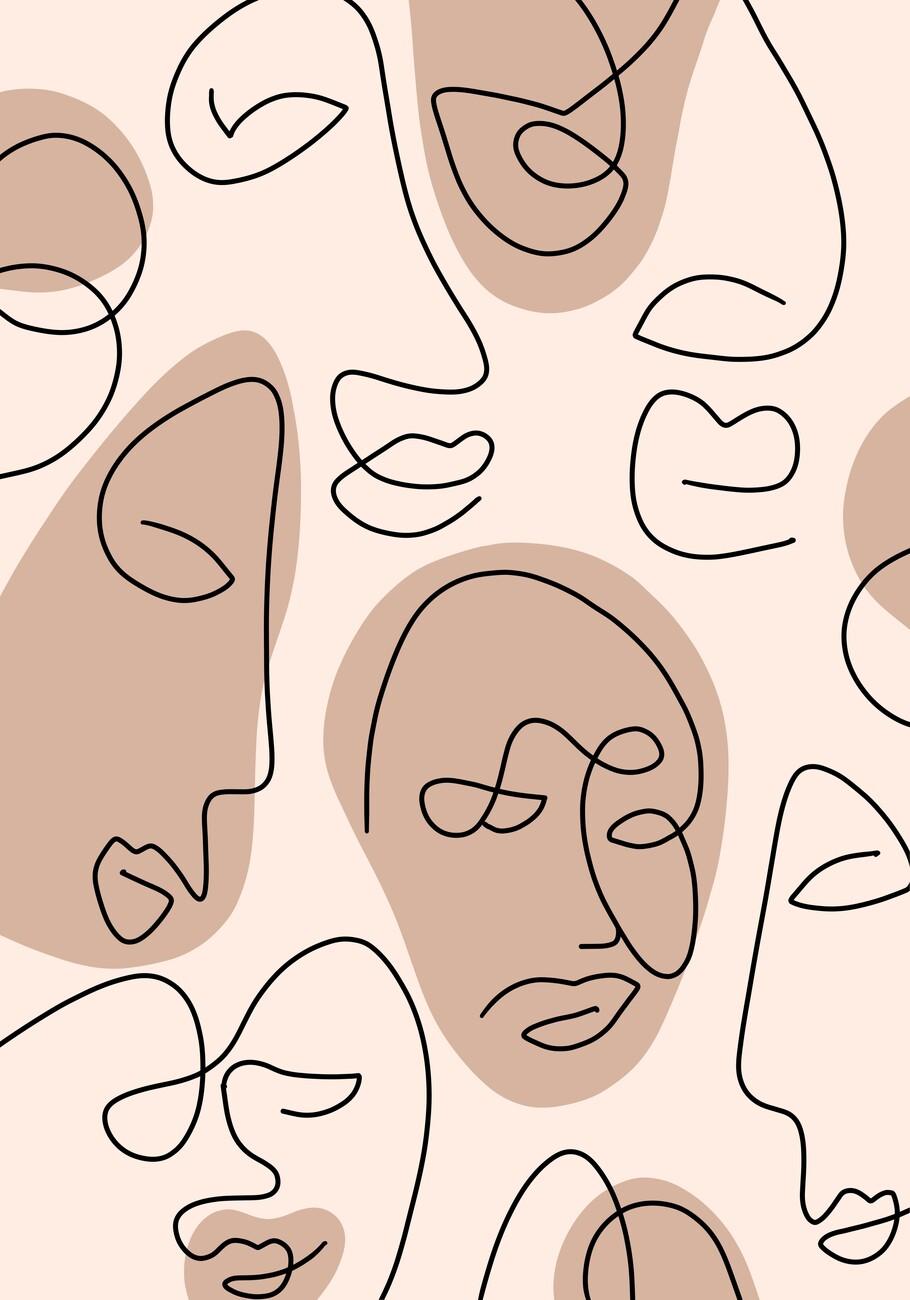 Ilustracija Nude faces