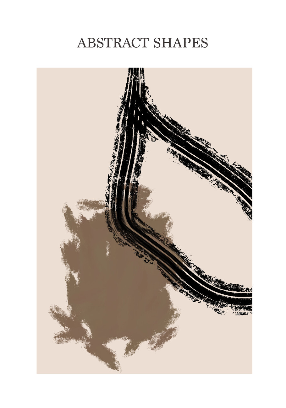 Illustration Abstract Shapes beige