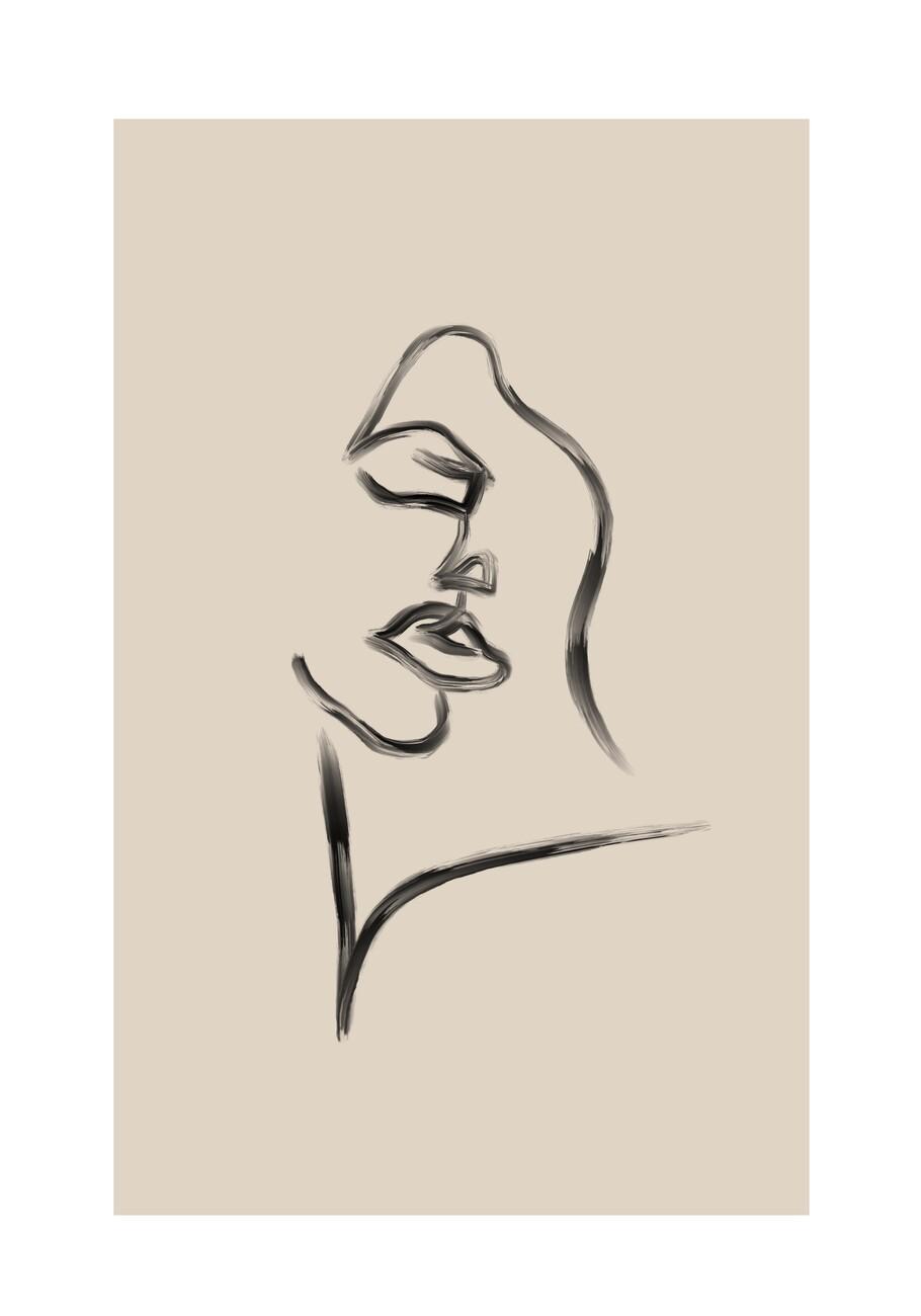 Illustration Seductive face