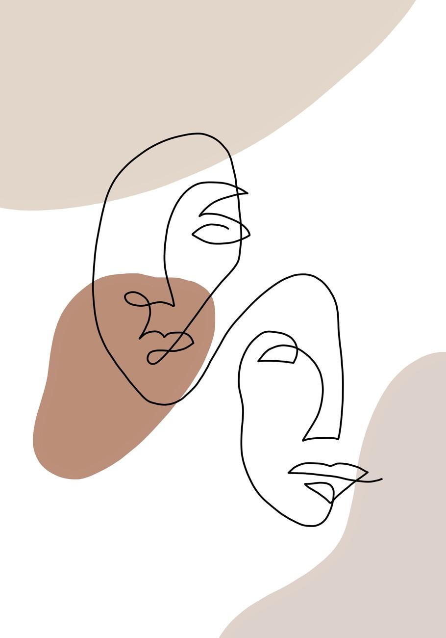 Ilustração Two faces