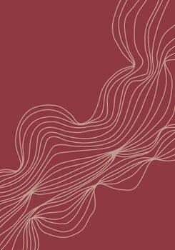 Illustration Burgundy lines