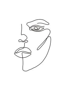 Ilustracija Woman face 2