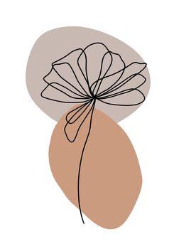 Ilustracja Flower line