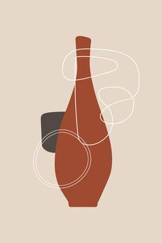 Illustration red bottle