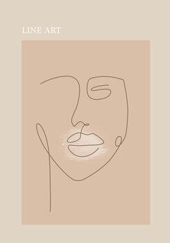 Illustration Beige face