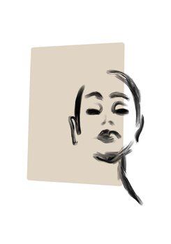 Illustration Woman portrait