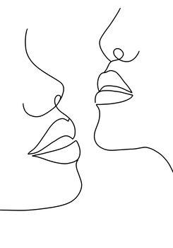 Illustration Woman faces line 2