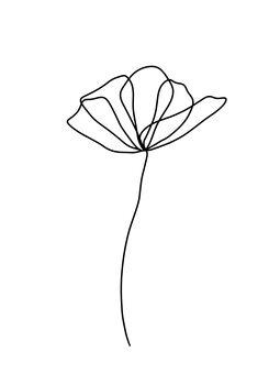Ilustracija Flower line 2