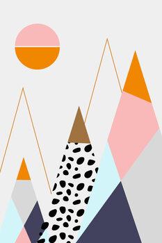 Illustration abstractmountains
