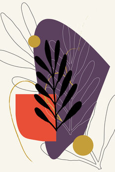 Illustration purplegold