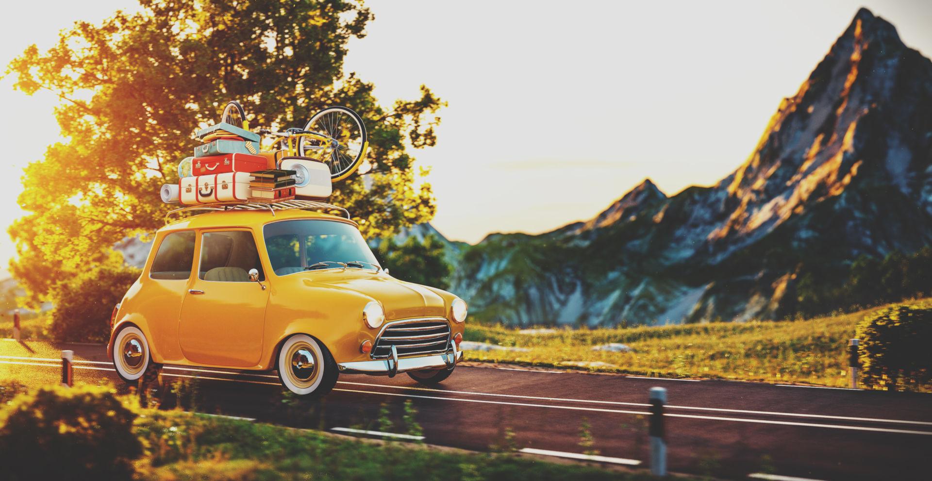 Keltainen pieni auto