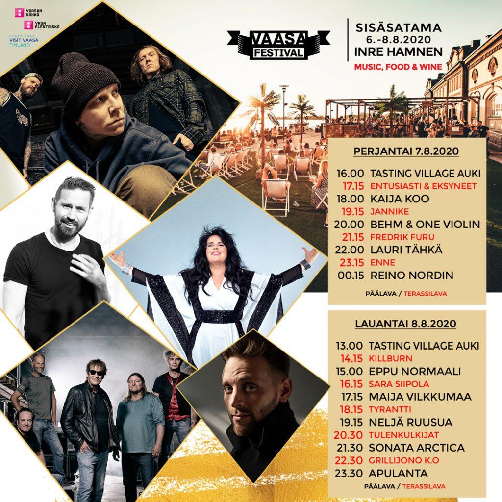 Vaasa Festival ohjelma