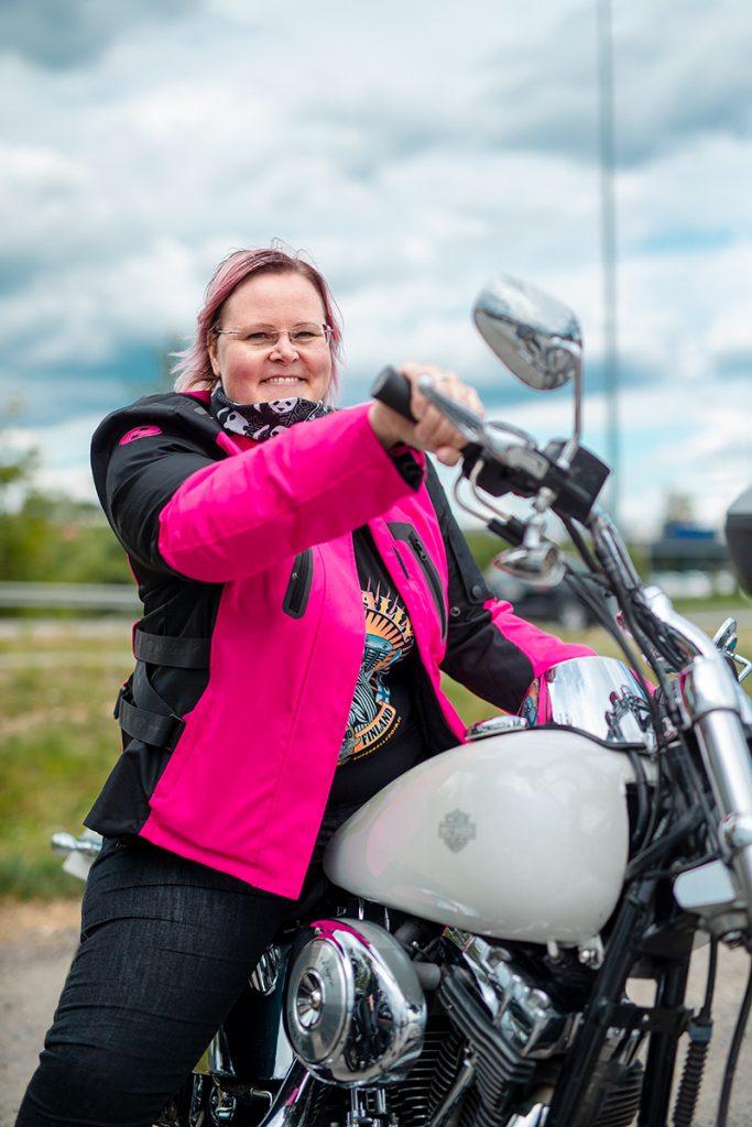 Ladies´ Bike Club puheenjohtaja Katja Kankaanpää