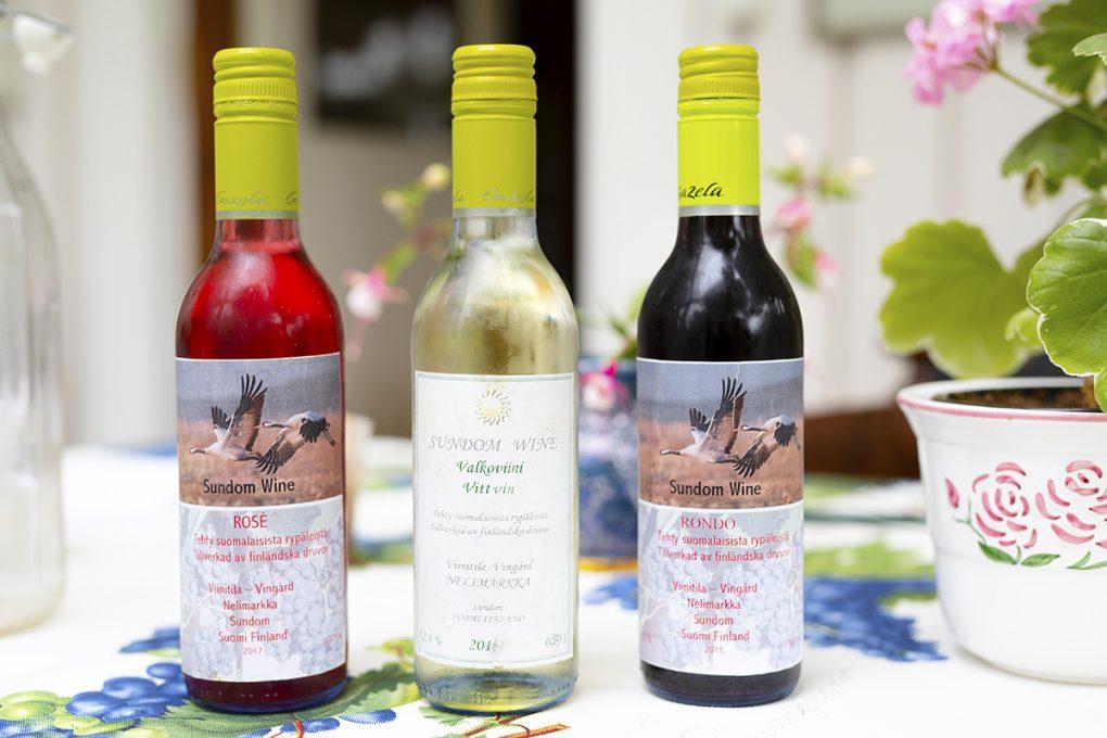 Sundom Wine viinitilan viinejä