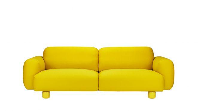 Hakolan keltainen Jumbo sohva