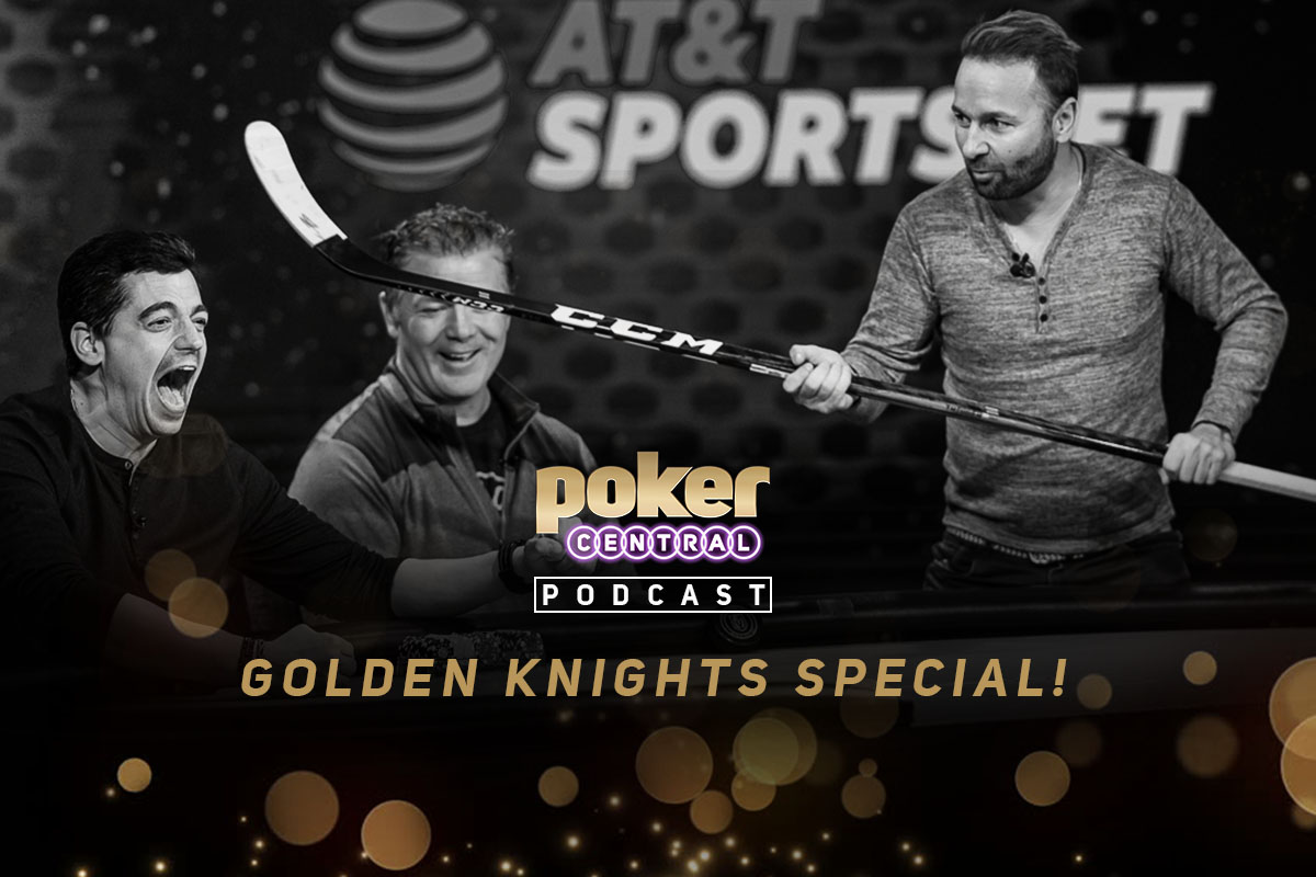 Nick Gismondi, Brad May, and Daniel Negreanu during the taping of Knight Life at the PokerGO Studio.