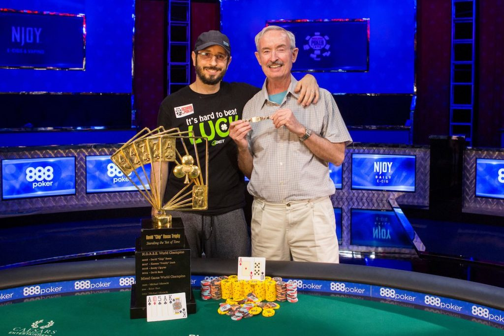 Brian Rast and his father after winning the $50,000 Players Championship in 2016.