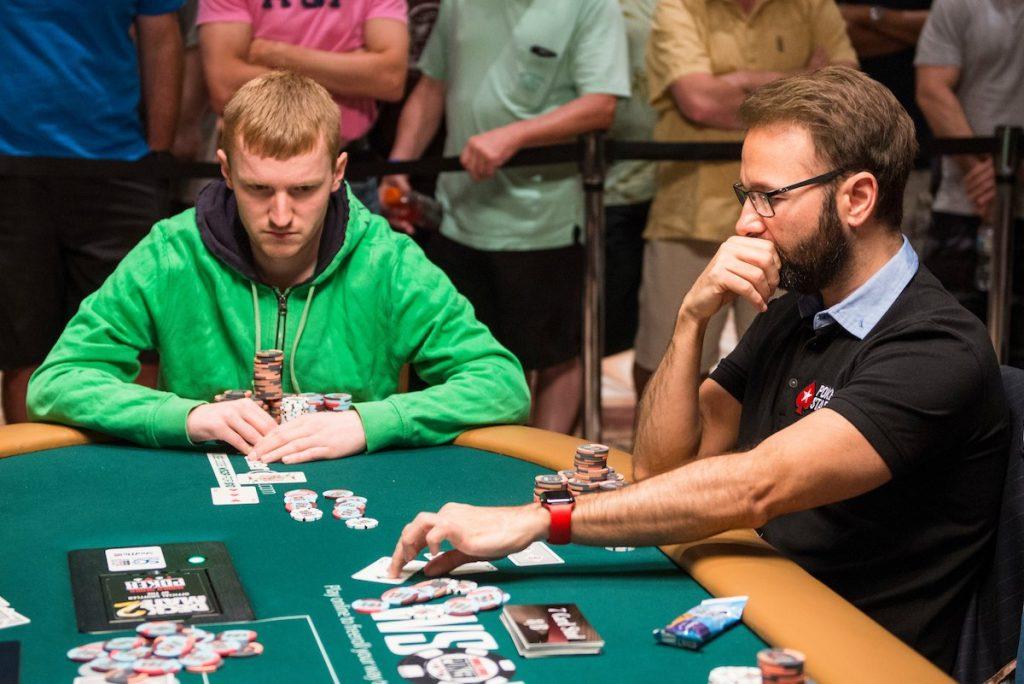 Daniel Negreanu battles Johannes Becker at the 2017 $50k Players Championship final table