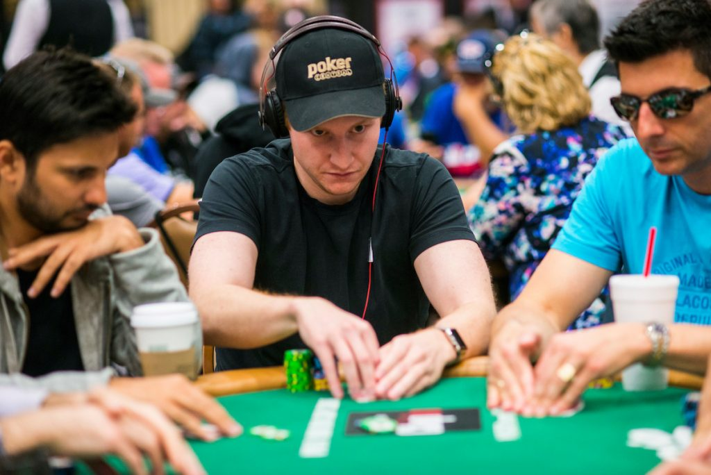 Sam Simmons - an avid poker player himself as well - during the 2016 World Series of Poker