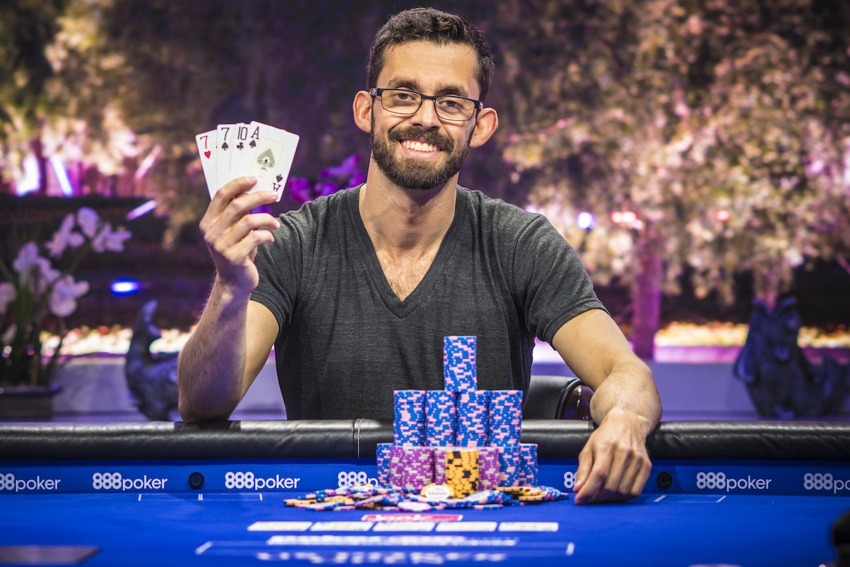 Mike Gorodinsky wins the $10,000 Pot Limit Omaha event at the 2018 US Poker Open.
