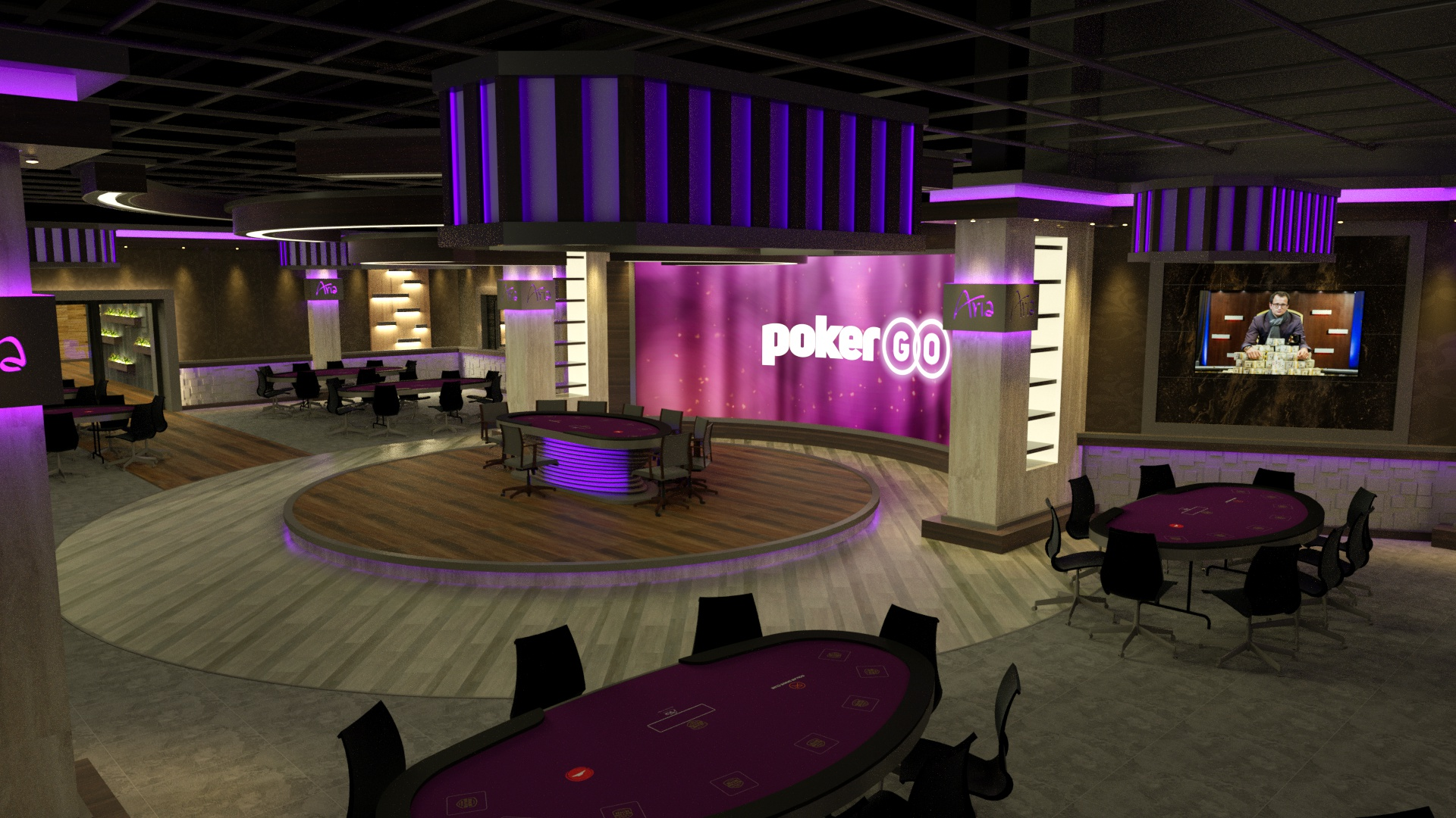 A rendering of the PokerGO Studio.