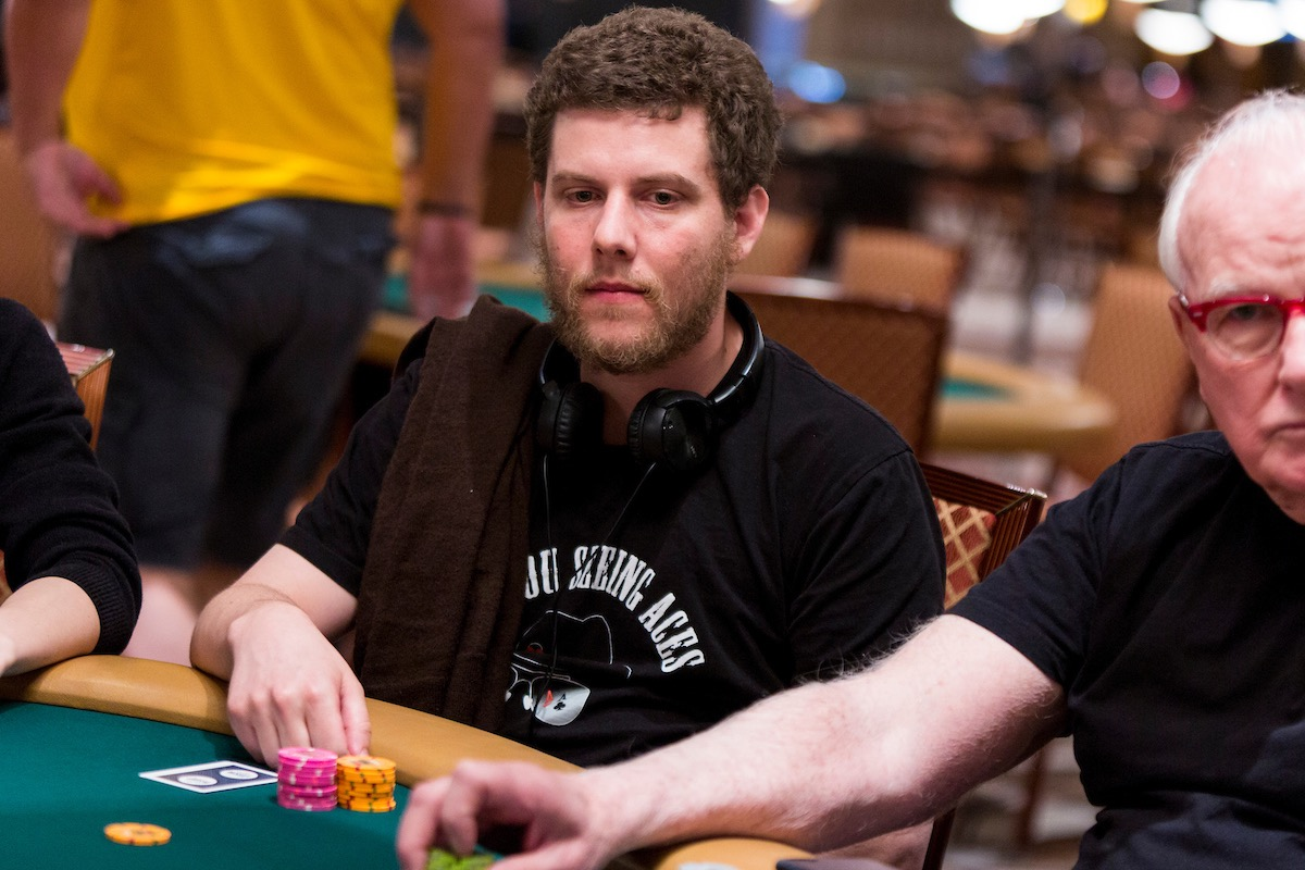 Ari Engel in action during the $111,111 High Roller for One Drop in 2017. (Photo: PokerPhotoArchive.com)