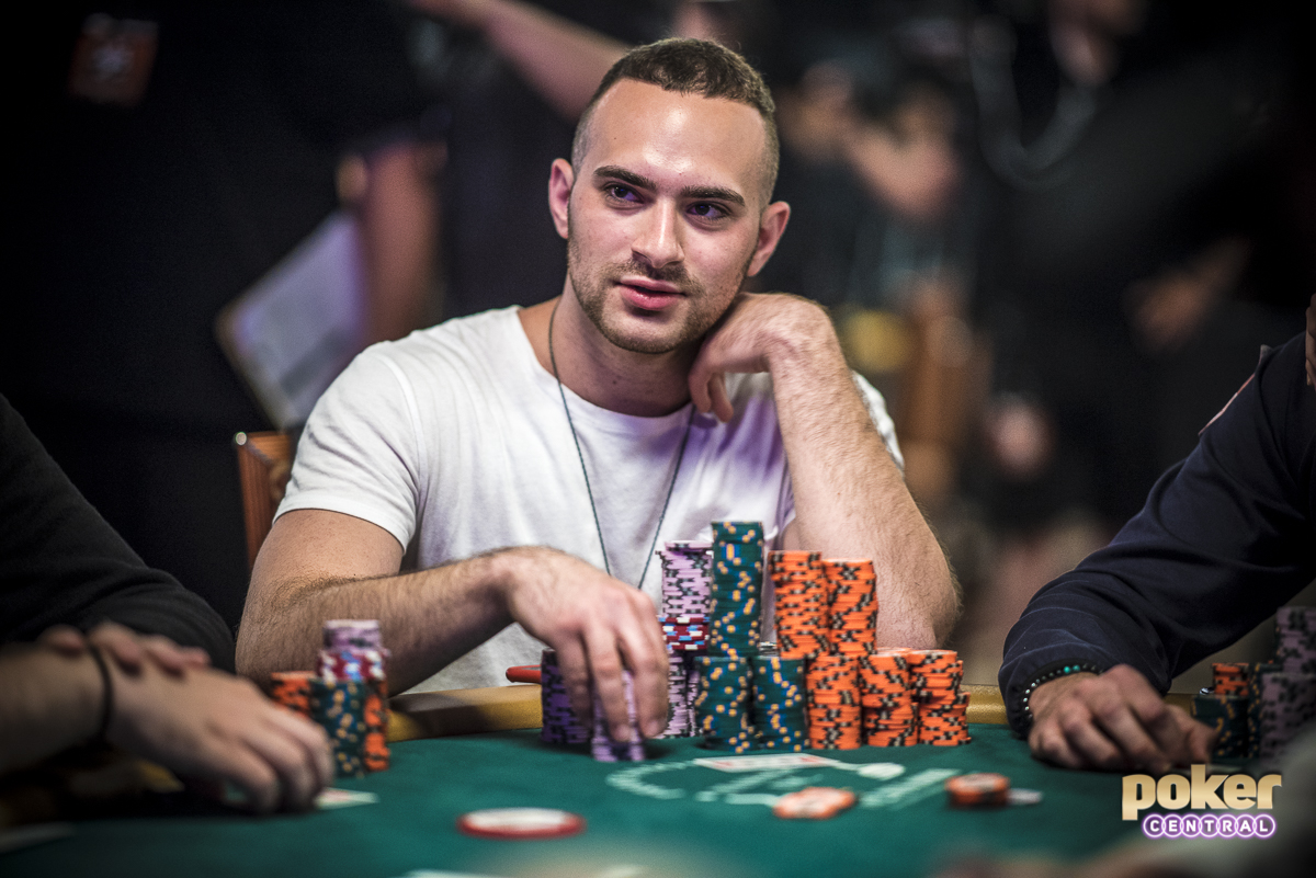Leading into the dinner break here on Day 6 is Aram Zobian. The young pro from Cranston, RI has already locked up over $180,000 which has already surpassed his total career earnings of $110,000. While inexperienced on the big stage, Zobian has played like a seasoned veteran, chipping up throughout the day. It will be interesting to see if the moment gets to Zobian, or if he can carry his momentum to the final 9.