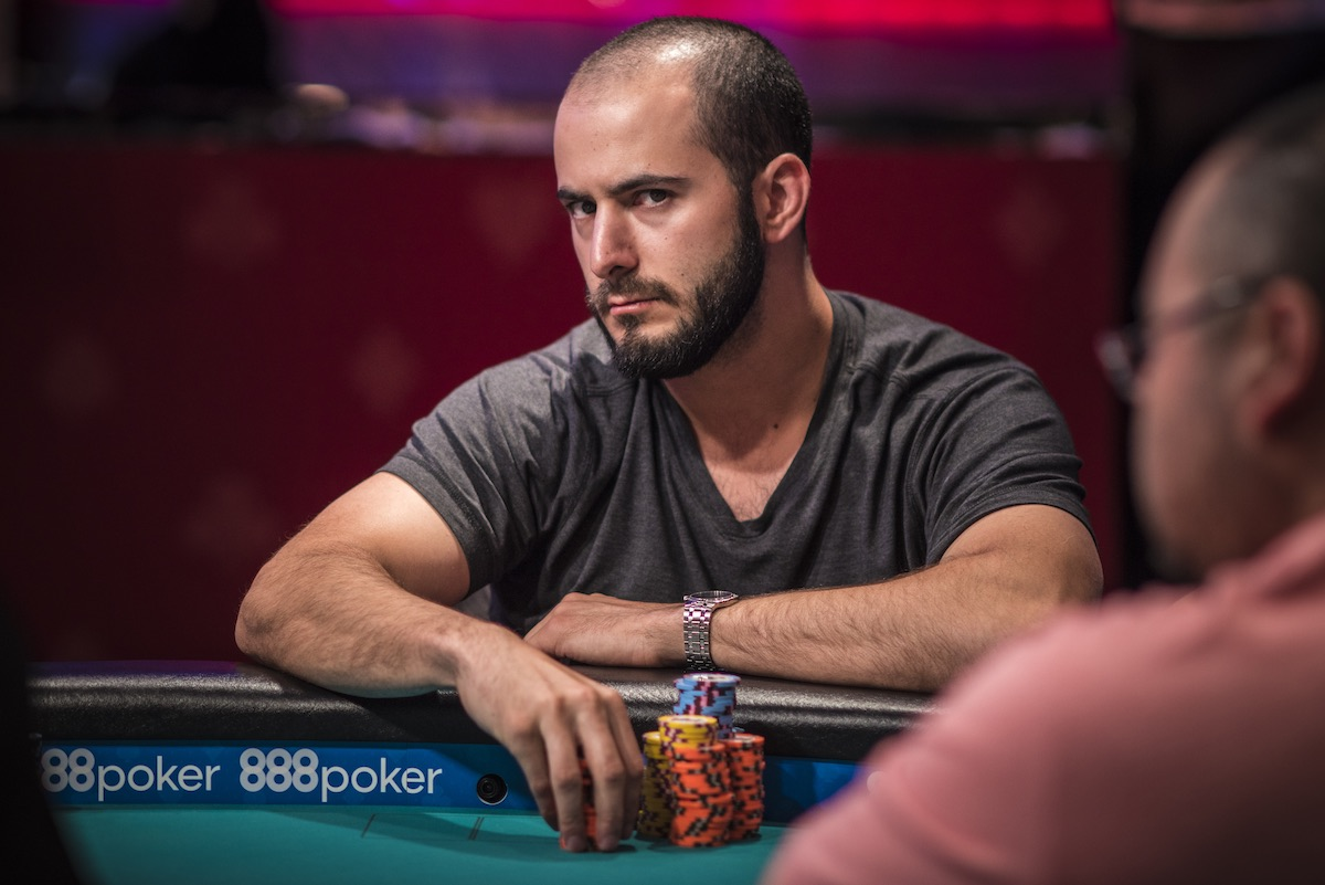 Sharp and focused: Brian Altman in the 2018 WSOP Main Event.