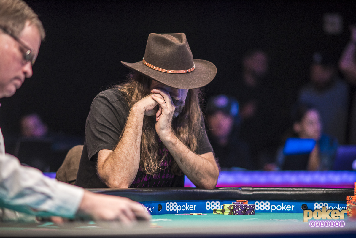 Chris Ferguson at the final table of a 2018 WSOP event.