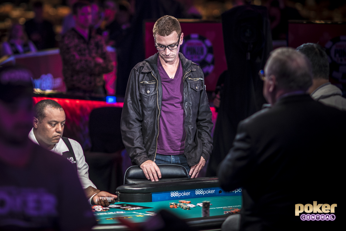 For comedian Clayton Fletcher, the end of Day 6 was no laughing matter. Fletcher lost majority of his stack holding ace-eight on an eight high board against John Cynn's kings and was left with just 7 big blinds. A few hands later he put the last of his chips into the middle holding king-ten, but was in rough shape against the king-queen of Yueqi Zhu. Fletcher failed to improve and hits the rail in 28th place, taking home a career best $230,475.