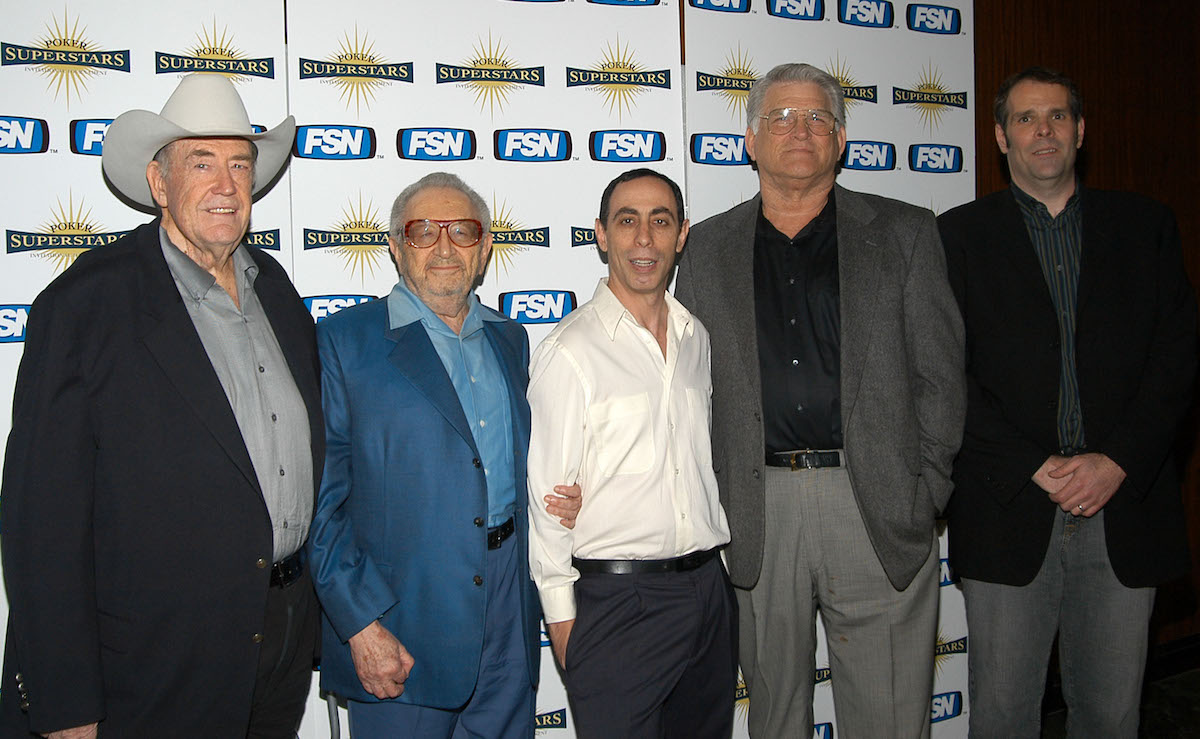 Doyle Brunson, Henry Orenstein, Barry Greenstein, T.J. Cloutier and Howard Lederer at the launch party for Season 1 of Poker Superstars of Fox.