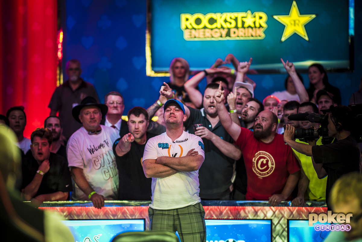 Four handed play lasted for quite a few levels, with Manion scoring a double up early to put himself back into contention. Eventually Manion would be all in holding ace-ten against the kings of John Cynn. Manion failed to improve and hits the rail in 4th place, taking home $2,825,000.