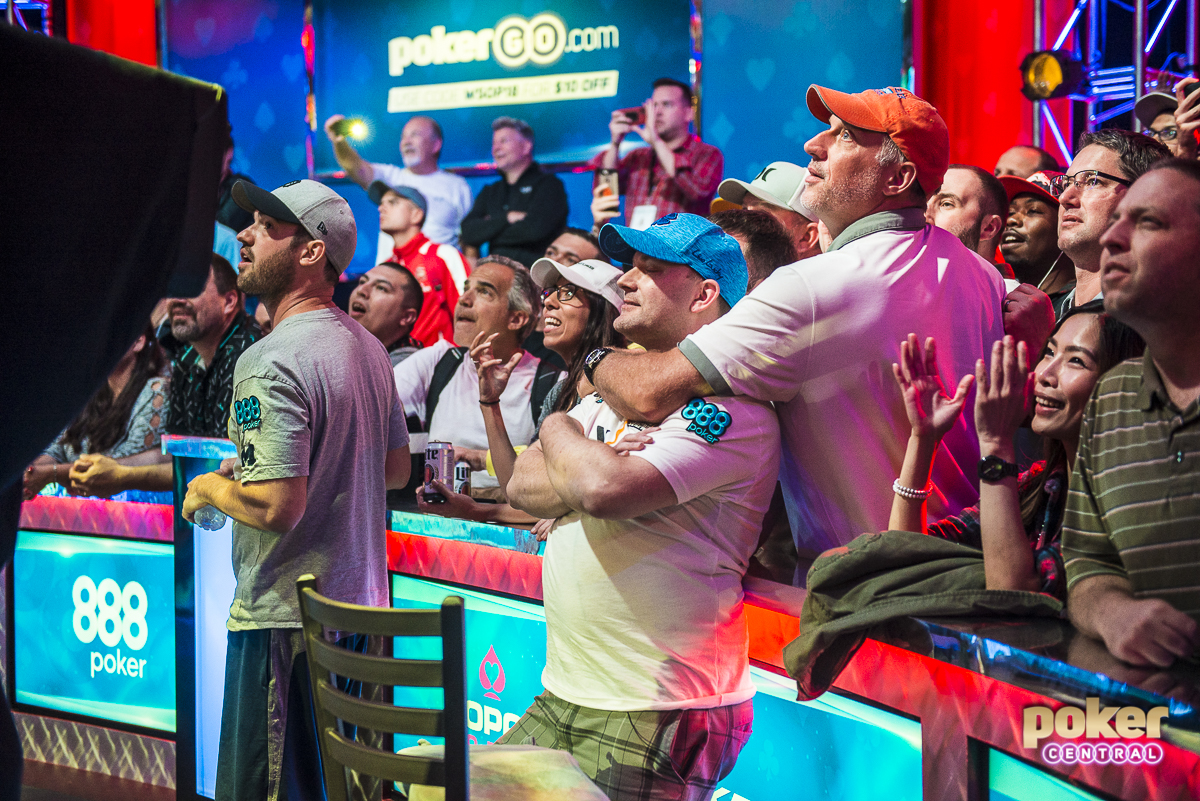 Nicolas Manion caught lightning to take the Main Event chip lead (Photo: Poker Central)