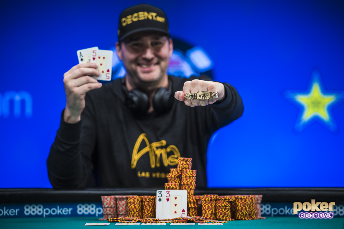 There may only be one personality in poker big enough to overshadow the Main Event on Day 7. History was not only made in the Amazon room tonight, but also in Brasilia as Phil Hellmuth captured his record 15th WSOP Bracelet. Hellmuth wasted little time in making his way over to the main stage to show off the new hardware to Ali Nejad & Nick Schulman.