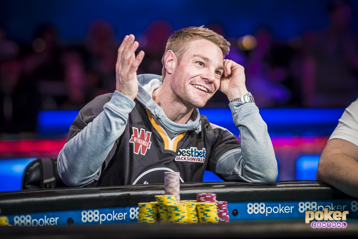 All eyes are on Tony Miles, as the Florida pro comes into three-handed play tomorrow with a commanding chip lead. After the Cada hand earlier today, Miles kept his foot on the gas and used his aggression and big stack to apply pressure to the rest of the field. Miles brings 238,900,000 back tomorrow, while John Cynn trials in 2nd with 128,700,000 and Michael Dyer rounds out the three with 26,200,000.