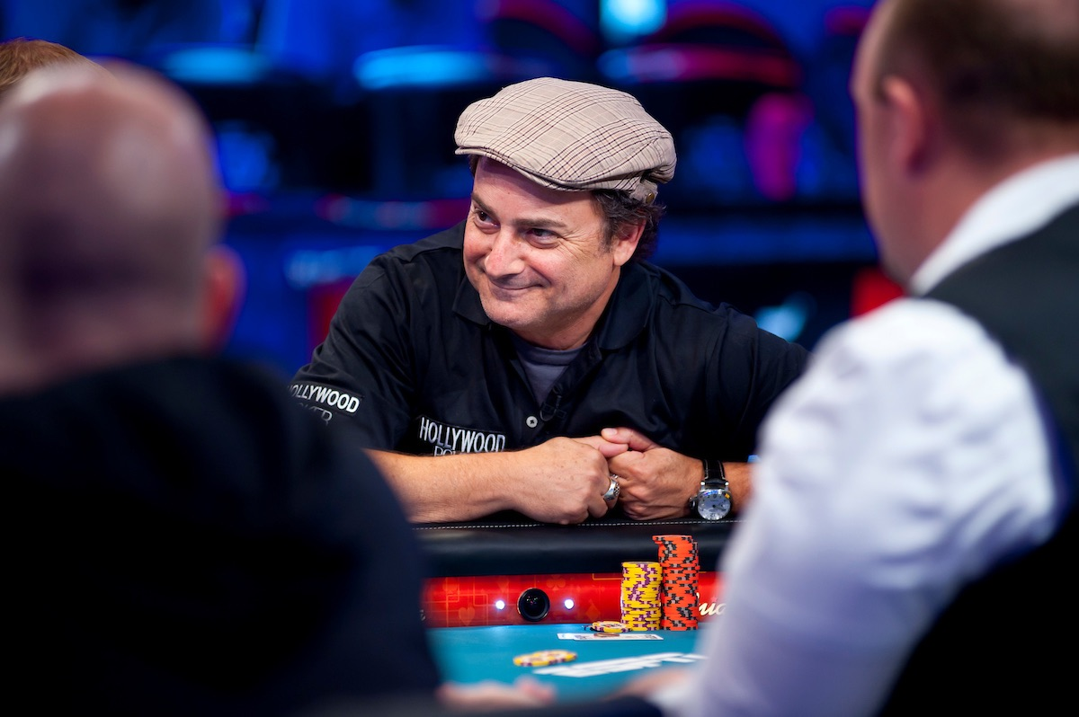 Kevin Pollak on the feature table during his deep run in the 2012 WSOP Main Event.