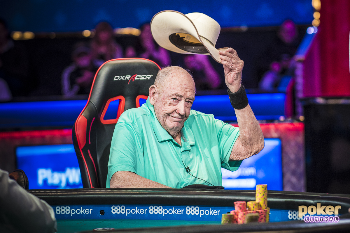 By far and away my two favorite images of the summer came from a moment I will never forget. Just after announcing his official retirement from playing events at the World Series of Poker, Doyle Brunson went on to final table the $10,000 No Limit 2-7 Lowball Championship. The first image I captured was Doyle heading into the Amazon Room one last time on his scooter. I camped out in the hallway for a few minutes before play to ensure I could grab some sort of photo, but the timing and emptiness of the hallway worked out perfectly and I captured possibly my favorite image of the summer. The next came when Doyle was eliminated in 6th place. In signature Texas Dolly fashion, Doyle looked around and gave us one final tip of the cap.