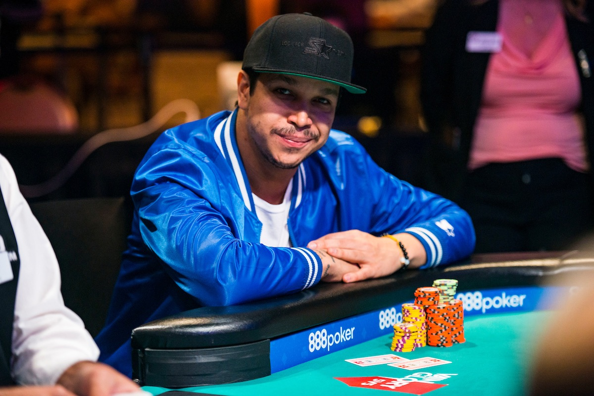Felipe Ramos at the final table of the $1,000 Pot Limit Omaha event during the 2018 World Series of Poker. (Photo: PokerPhotoArchives)