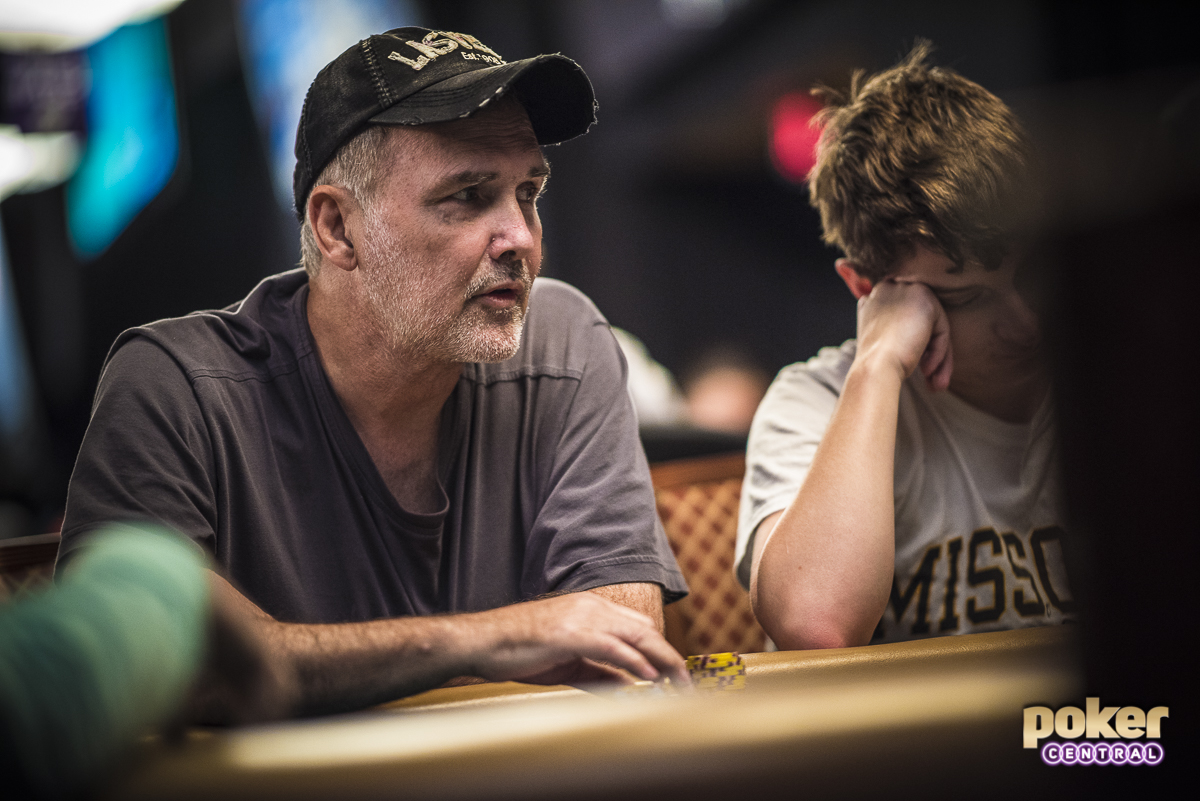 Norm Macdonald in action during the 2018 World Series of Poker.