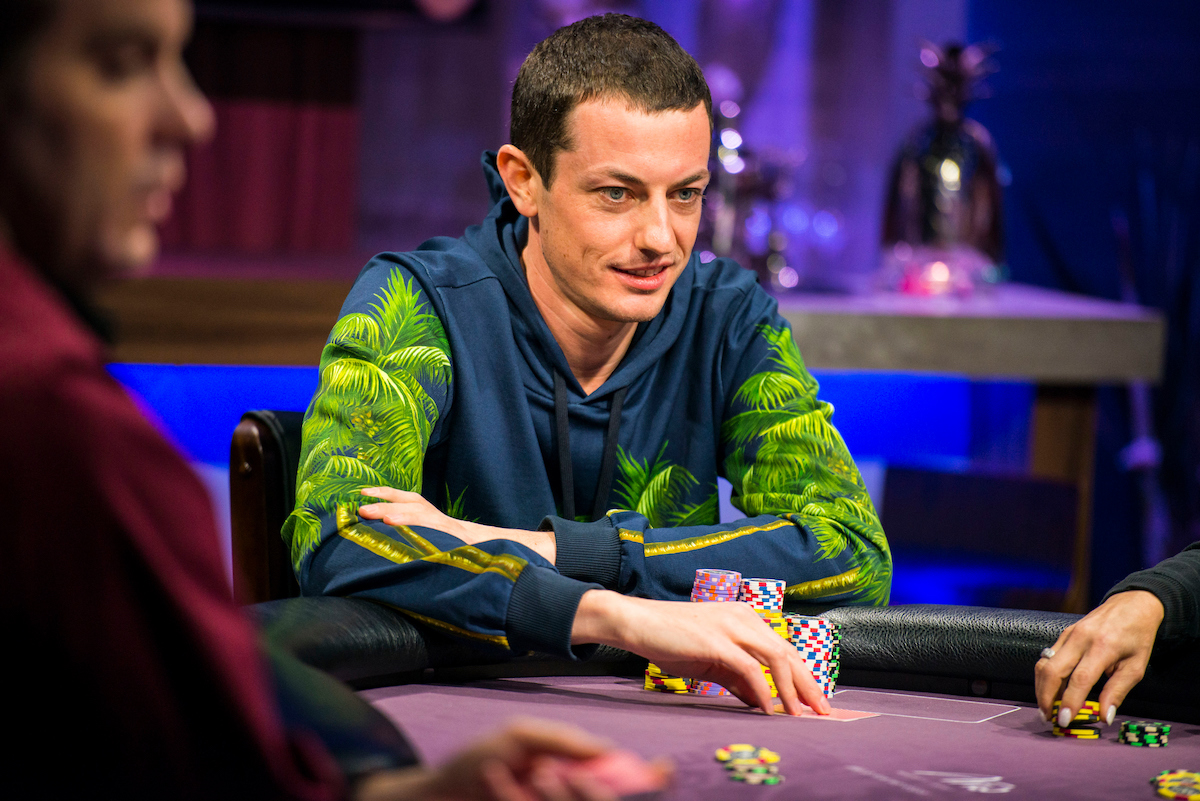Tom Dwan during his return to Poker After Dark in 2017 on PokerGO.