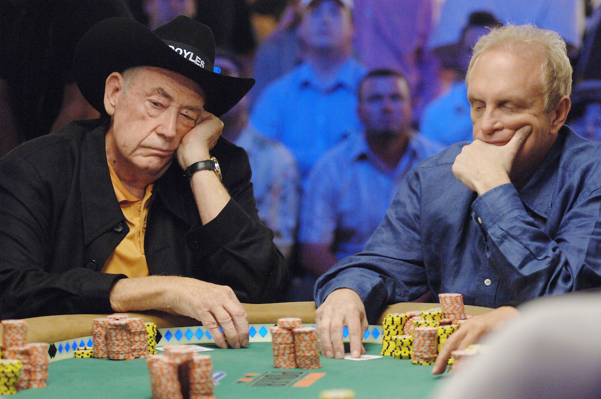 Legends of the game Doyle Brunson and Chip Reese were set to star in a pre-poker boom show with sky-high stakes if Mori Eskandani would've had his way. (PokerPhotoArchives)