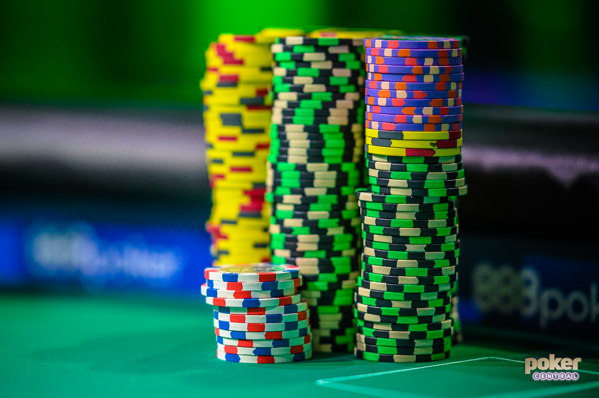 The big chips were in play during the Super High Roller Cash Game at the PokerGO Studio.