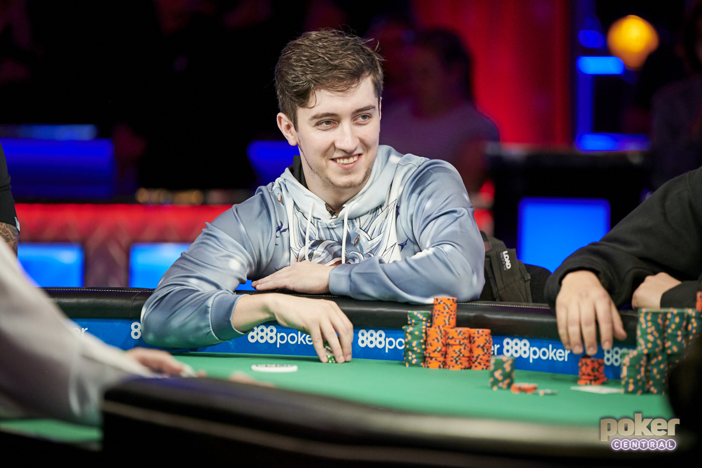 Ali Imsirovic was all smiles at the first big final table of the 2019 WSOP.