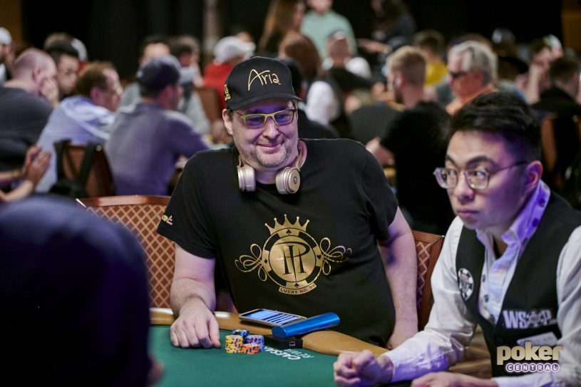 Phil Hellmuth MC'd Gavin Smith's fundraiser tournament before mixing it up himself.